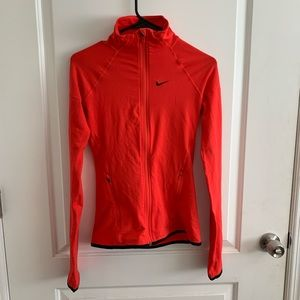 Like new red Nike Dry Fit Zip Up.